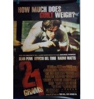 21 Grams Unsigned Single Sided 27x40 Original Movie Poster