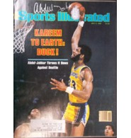 Abdul-Jabbar, Kareem (Los Angeles Lakers) Signed Sports Illustrated Magazine 5/5/80 (Silver pen stain next to signature)