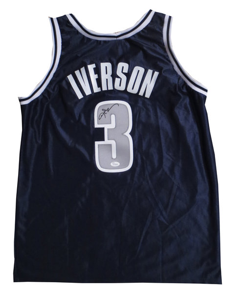 Allen Iverson Signed Georgetown Jersey From Powers Autographs