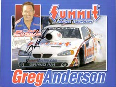 Anderson, Greg Signed 8x10 Promo Card