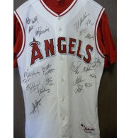 Angels, Anaheim (2004) Signed Majestic Angels Authentic Jersey size 44 with inner shirt by the 2004 team it is signed by: Jarrod Washburn, Bartolo Colon, Mike Scioscia, Adam Kennedy, Andres Galarraga, Scot Shields, Josh Paul, David Eckstein, Bengie Molina, Shane Halter, Jose Molina, Jose Guillen, Jeff DaVanon, Troy Percival, Brendan Donnelly, John Lackey, Troy Glaus, Chone Figgins, Aaron Sele, Kelvim Escobar, Garrett Anderson, Darin Erstad, Tim Salmon.