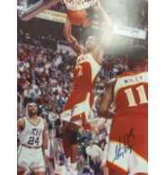Augmon, Stacey (Atlanta Hawks) Signed 16x20 Photo (Slight Fading of the signature)