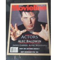 Baldwin, Alec Signed Magazine Cover double matted and ready to be framed