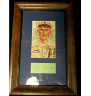 Bancroft, Dave Signed Cut Framed and Matted with Hall of Fame Card (Light Dings on the frame) 8x12 Frame