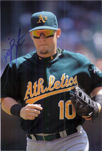 Barton, Daric (Oakland Athletics) Signed 8x12 Photo (Can be cut down to make an 8x10)