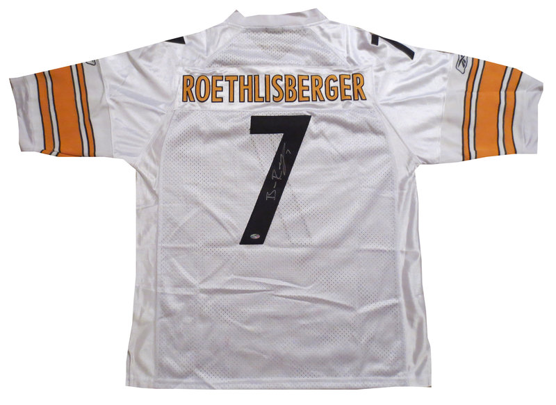 new arrival a5e56 b9301 Ben Roethlisberger Autographed Pittsburgh Steelers Football ...