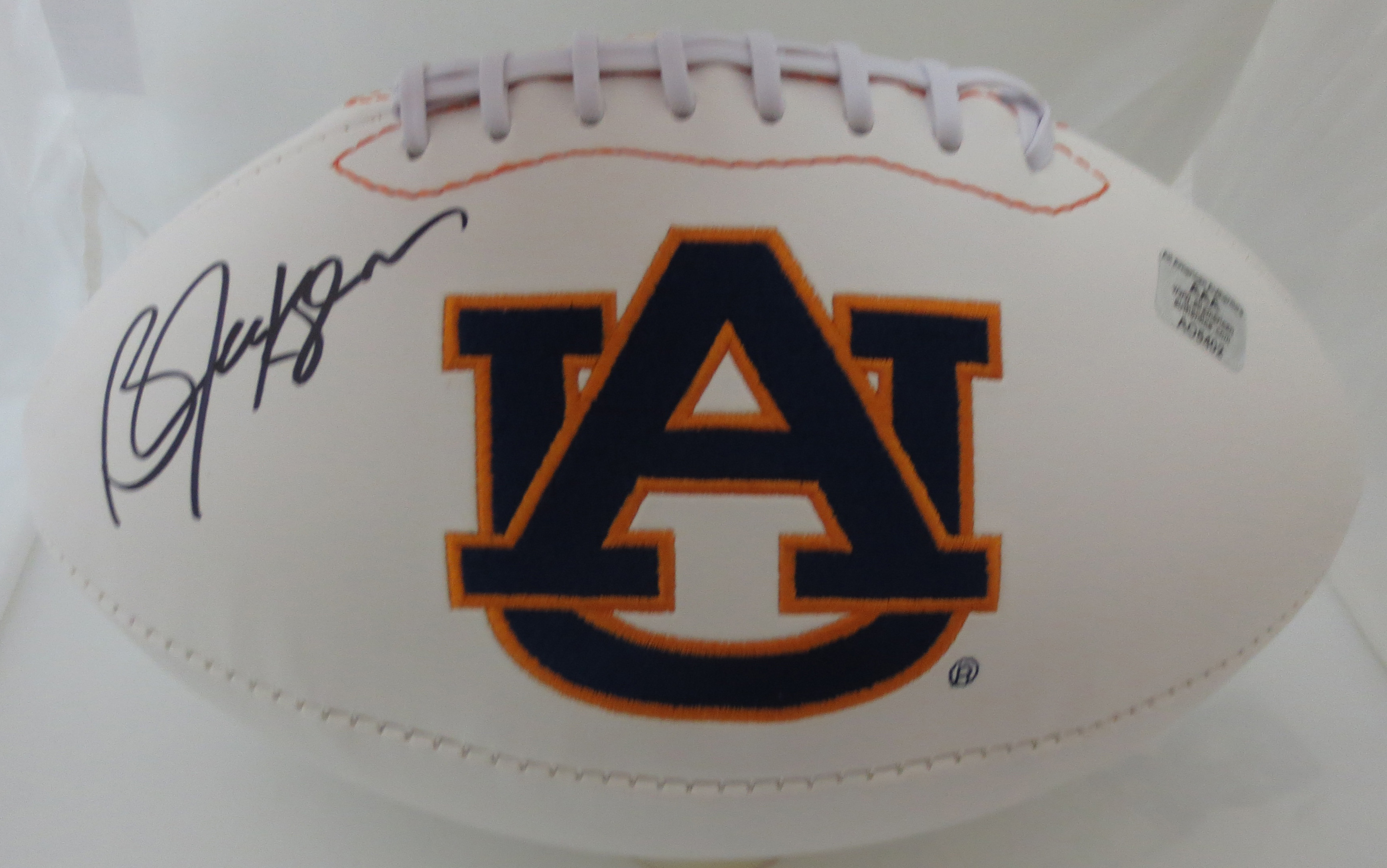 reputable site 8d405 943fb Bo Jackson Autographed Auburn Signed Football from Powers ...