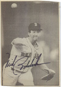 Boddicker, Mike Signed 3x5 Newsprint