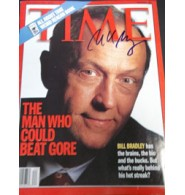Bradley, Bill Signed Time Magazine (Dated 10/4/99)