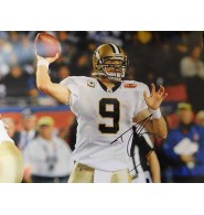 Brees, Drew (New Orleans Saints) Signed 11x14 Photo.