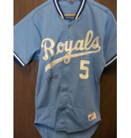 Brett, George (Kansas City Royals) Signed Authentic Kansas City Royals Jersey on the front Size 38 (Blank on the back)
