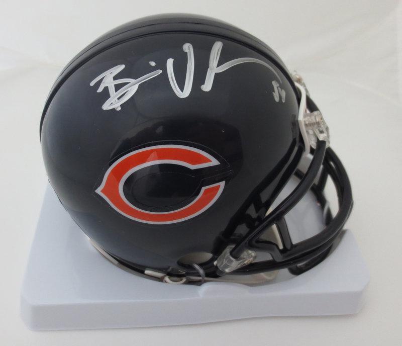 half off 8a625 25b70 Brian Urlacher Autographed Bears Mini Helmet from Powers ...