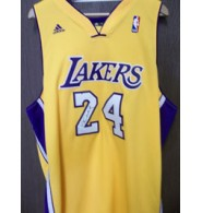 Bryant, Kobe (Los Angeles Lakers) Signed Adidas Replica Los Angeles Lakers Jersey on the front
