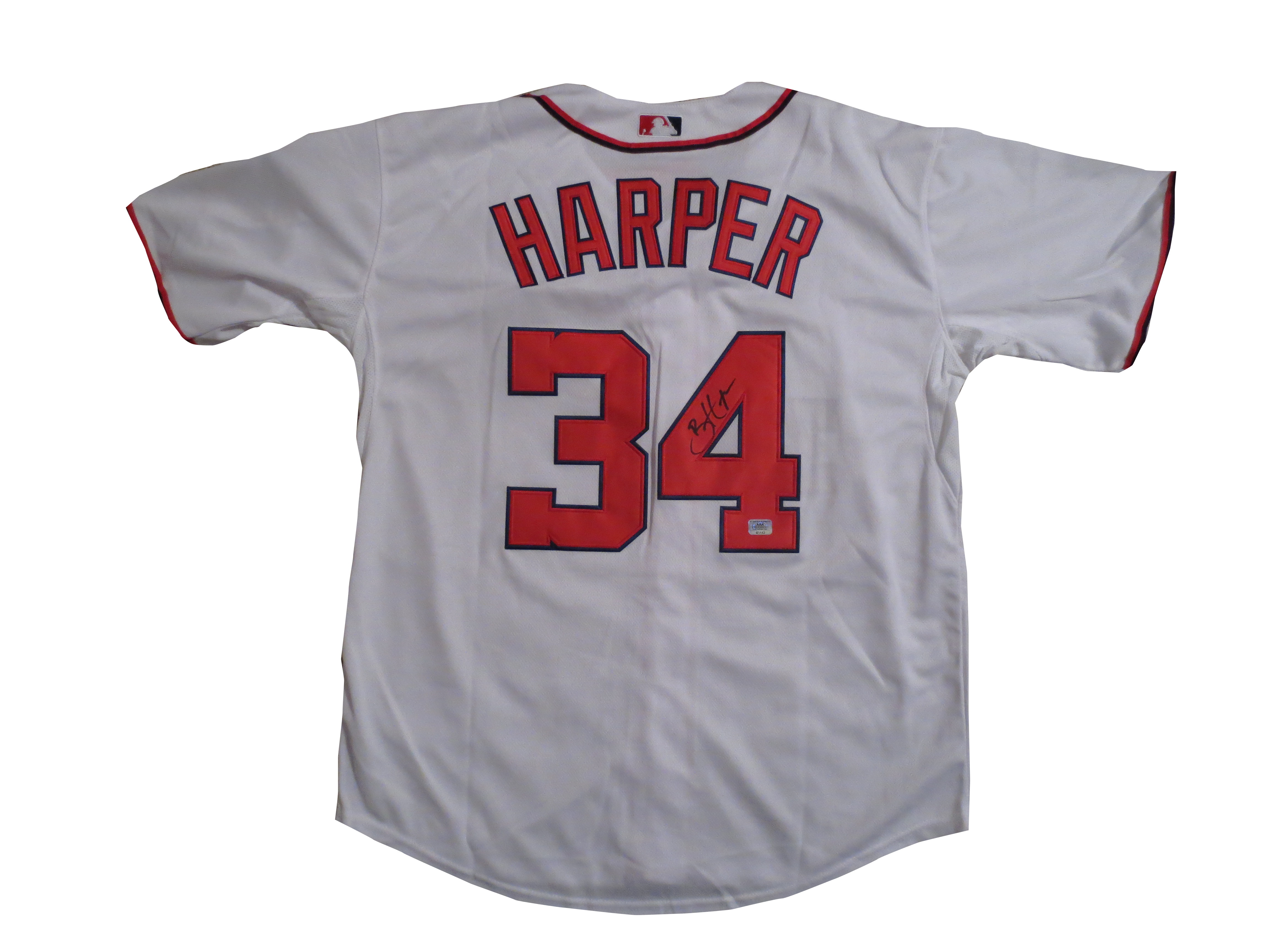 Bryce Harper Autographed Nationals Baseball Signed Jersey AAA COA 3d024678b