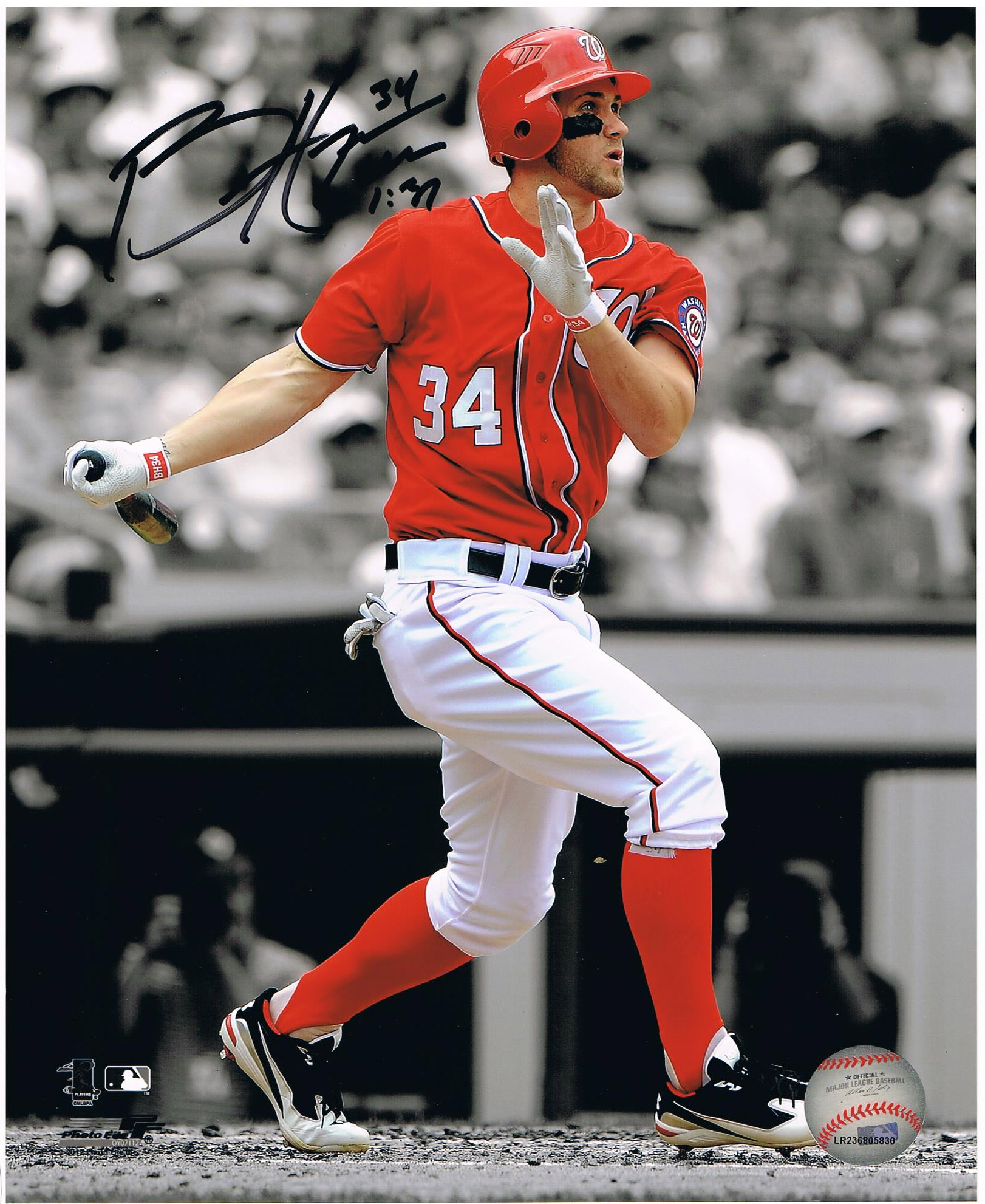 Bryce Harper Autographed Washington Nationals Signed 8x10 Photo 2 3a11e6c75