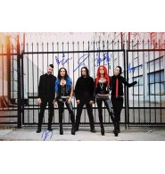 Butcher Babies Signed 12x18 Photo By Heidi Shepherd, Carla Harvey, Henry Flury, Jason Klein and Chase Brickenden.