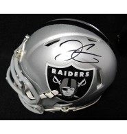 Carr, Derek (Oakland Raiders) Derek Carr Signed Signed Oakland Raiders Mini Speed Helmet.