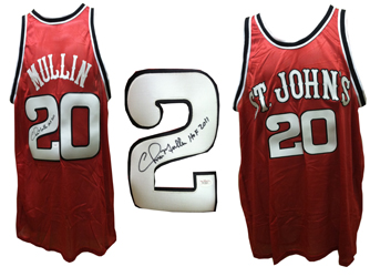 7209b27de09 Chris Mullin Signed St. Johns University Red Storm Jersey JSA signed ...