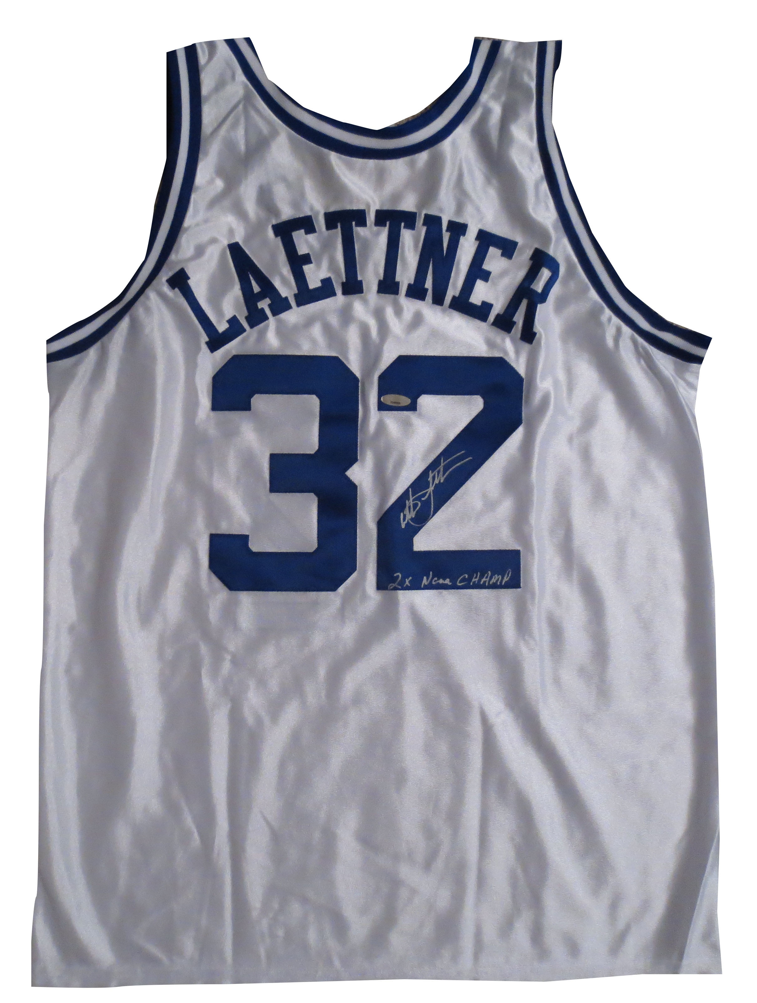 Christian Laettner Signed Duke Jersey from Powers Autographs