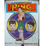Conn, Billy / Nova, Lou Signed The Ring Magazine 7/41