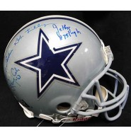 Cowboys, Dallas (Bob Lilly/Jethro Pugh/Larry Cole/George Andrie) Signed Full Size Authentic Riddell Dallas Cowboys Helmet by Bob Lilly, Jethro Pugh, Larry Cole & George Andrie. (JSA Authenticated)