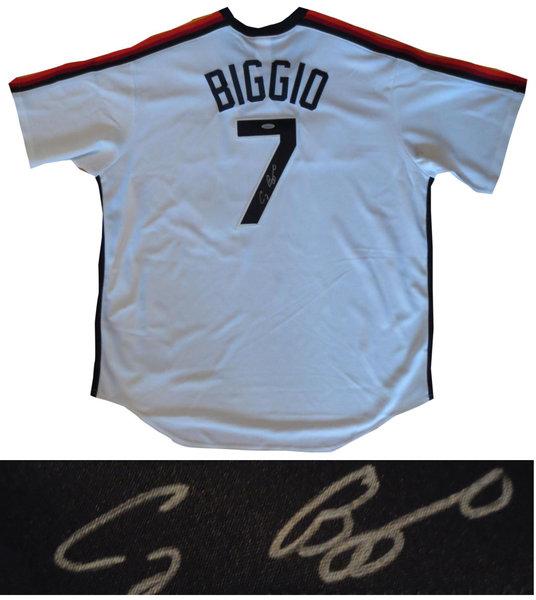 low priced ea33c ed403 Craig Biggio Signed Houston Astros Throwback Baseball Jersey ...