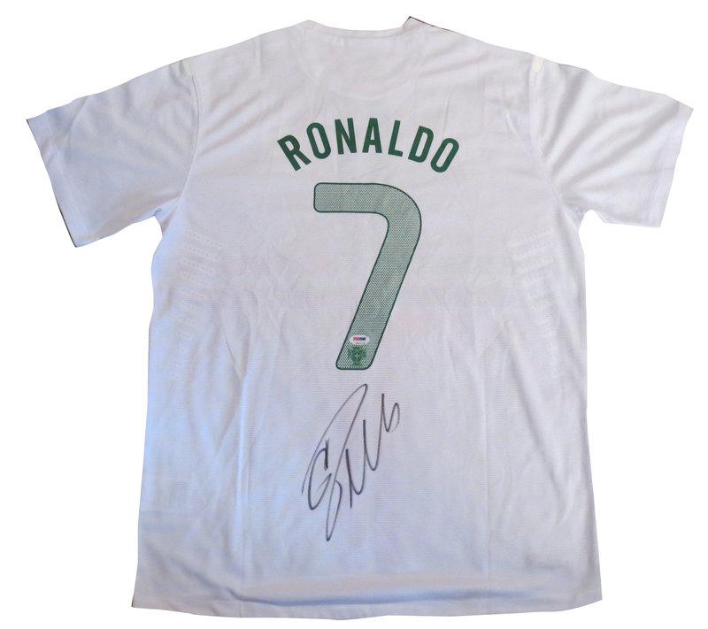 newest 33cdc 9d620 ronaldo autographed jersey