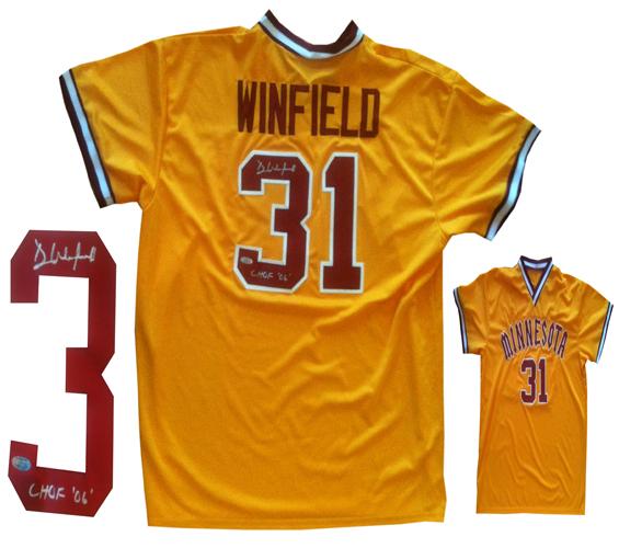 detailed look 13fa2 f6720 Dave Winfield Signed Univ Minnesota Baseball Jersey Steiner ...
