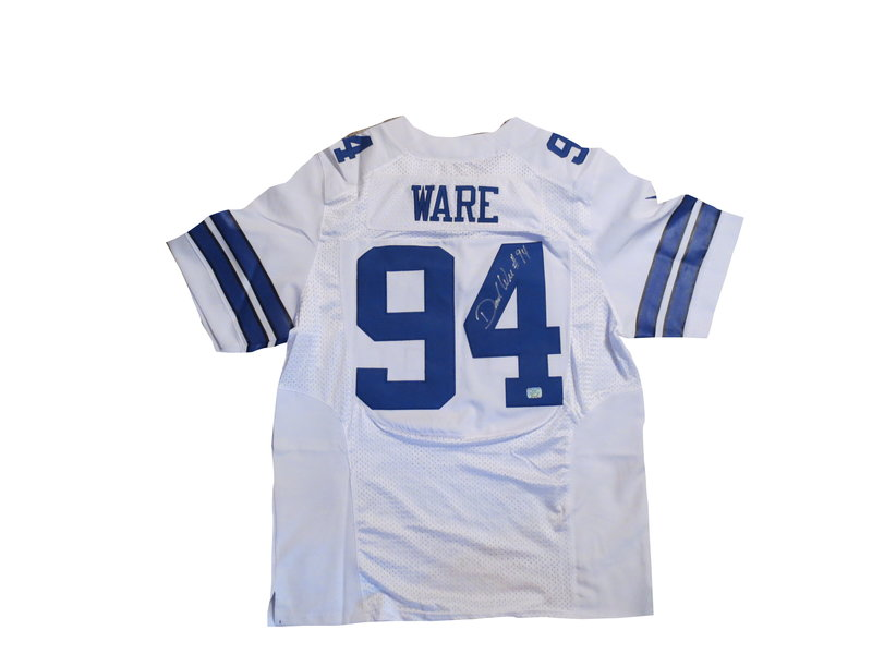 c35e4c013 DeMarcus Ware Autographed Dallas Cowboys White Football Jersey - AAA ...