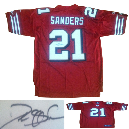 new concept a92a9 bf065 Deion Sanders Signed 49ers Jersey from Powers Autographs