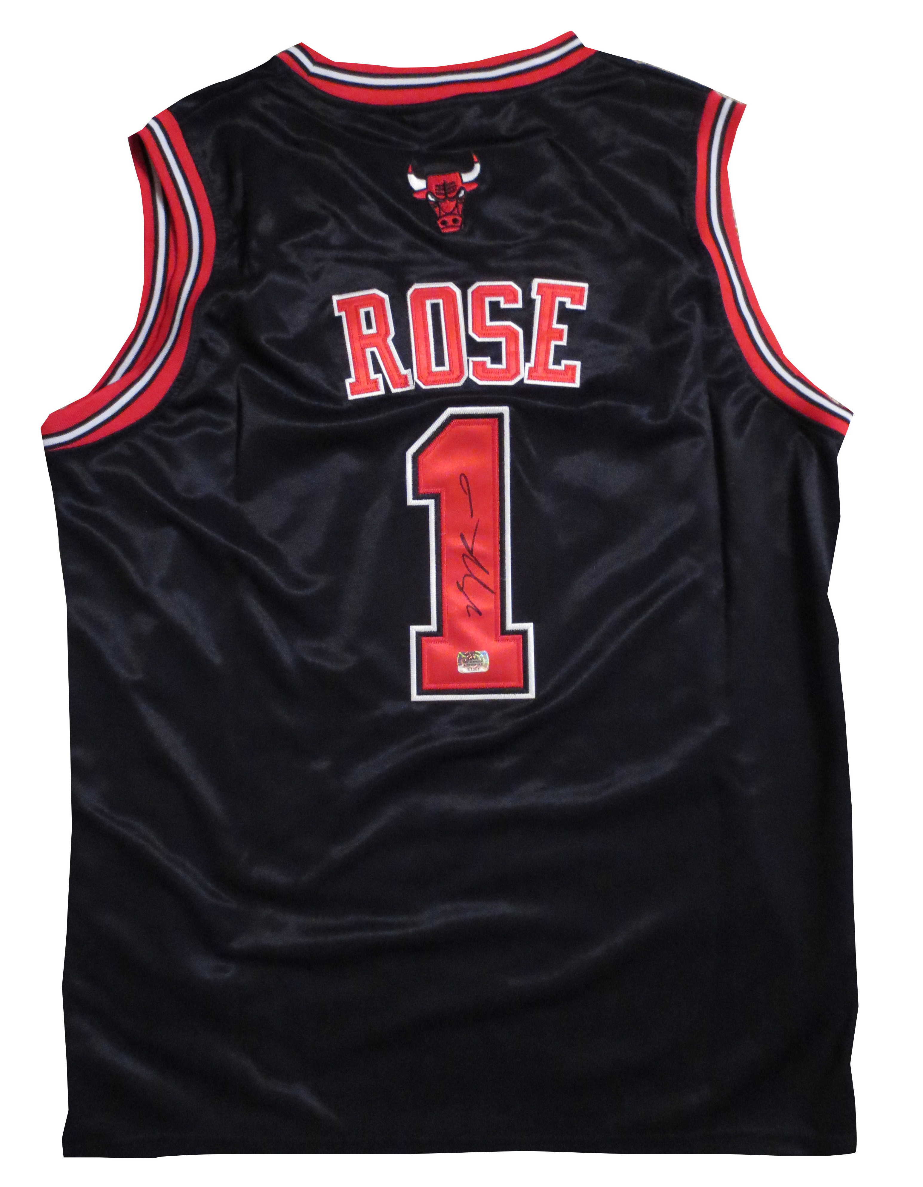 new products f6511 f7d84 Derrick Rose Autographed Chicago Bulls Basketball Jersey ...