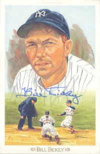 Dickey, Bill (New York Yankees) Signed Steele-Perez Celebration Post Card