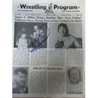 Dillon, James J. Signed Original Big Time Wrestling Paper 8/19/77