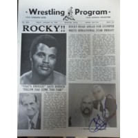 Dillon, James J. Signed Original Big Time Wrestling Paper 1/30/76