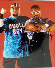 Dudley Boys Signed 8x10 By DeVon and Bubba Dudley