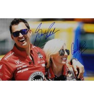 Force, Courtney / Rahal, Graham Signed 12x18 Photo by Courtney Force and Graham Rahal.