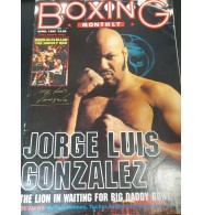 Gonzalez, Jorge Luis Signed Boxing Monthly Magazine Dated 04/1995 (Top part of the magazine has ripping and creasing)