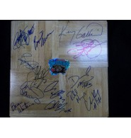 Grizzlies, Vancouver (1995-96) Signed 12x12 Floorboard by the 1995-96 Vancouver Grizzlies team: Kenny Gattison, Byron Scott, Greg Anthony, Antonio Harvey, Brian Winters, Ashraf Amaya, Rich Manning, Chris King, Darrick Martin, Bryant Reeves, Blue Edwards, Lawrence Moten and Benoit Benjamin.
