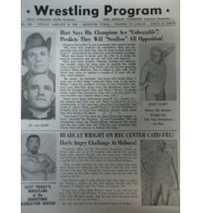 Hart, Gary Signed Original Big Time Wrestling Paper 1/20/66