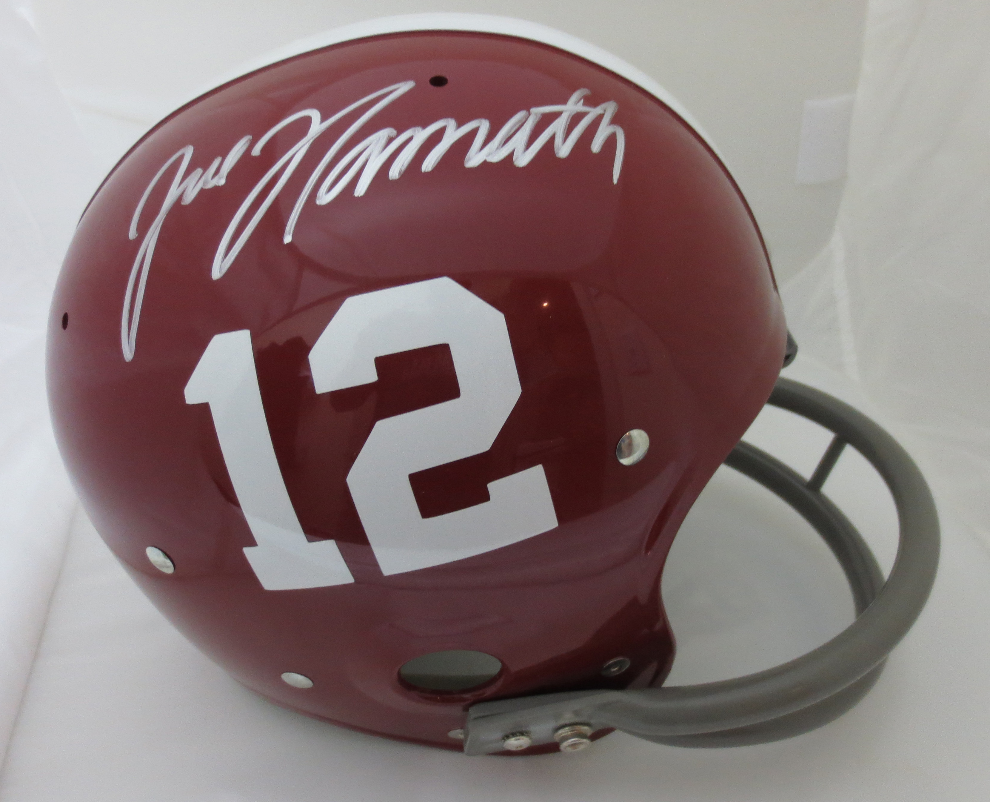 Joe Namath Autographed Alabama Full Size Football Throwback TK Helmet d258b07dc