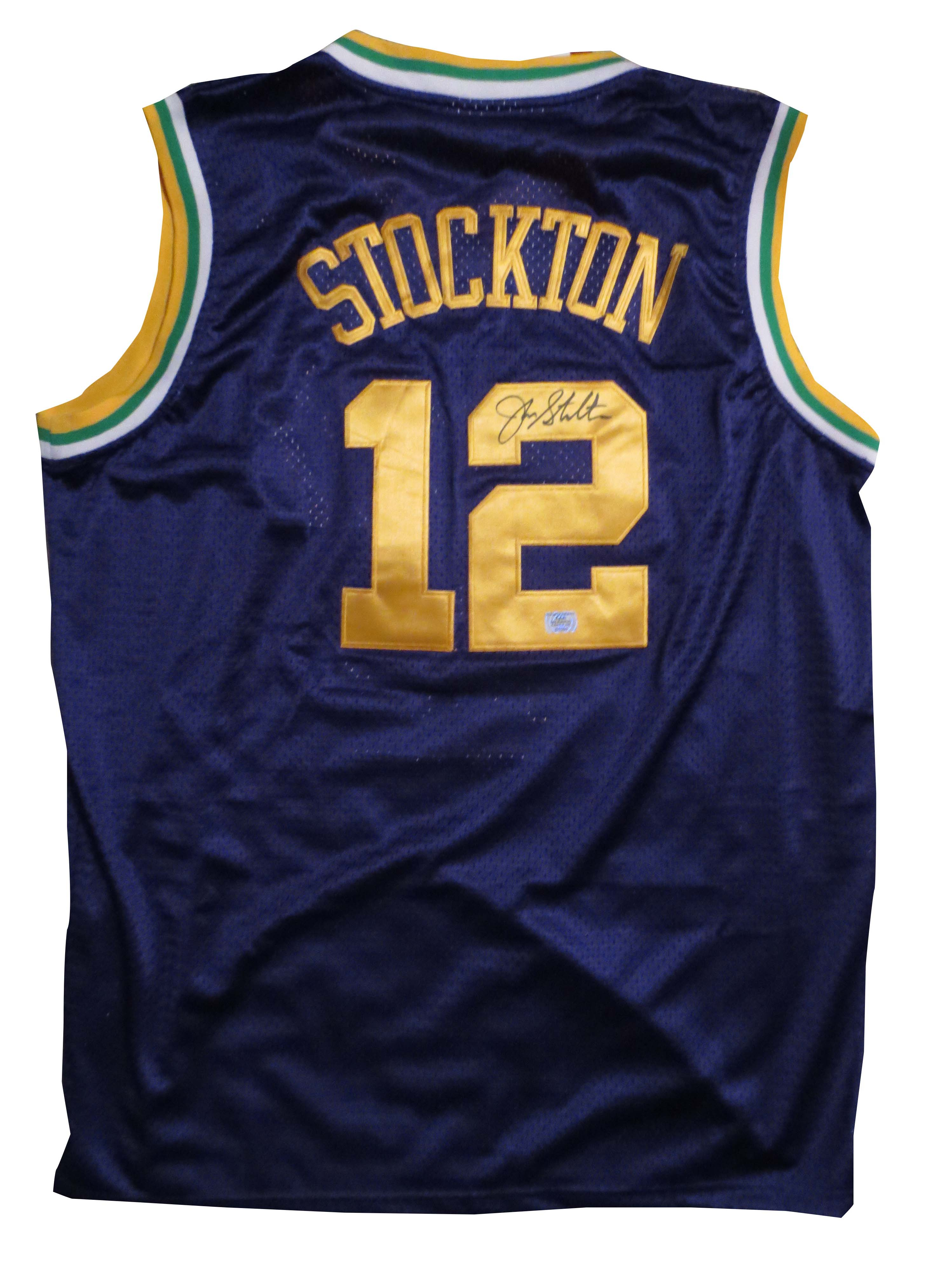 newest b6104 00635 John Stockton Signed Jazz Jersey from Powers Autographs
