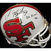 Kaepernick, Colin (San Francisco 49ers) Colin Kaepernick Signed San Francisco 49ers Authentic Riddell Full Size Fooitball Helmet with inscription