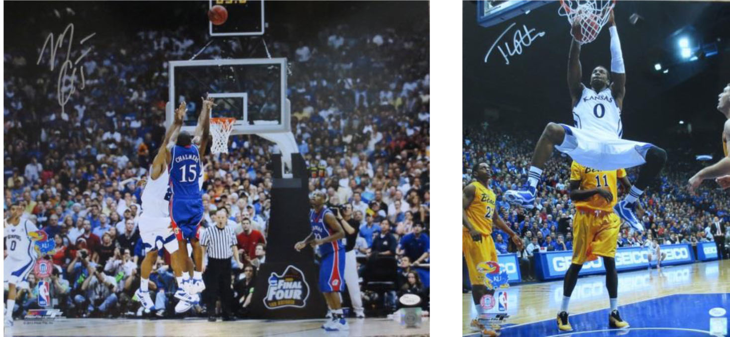 Kansas Jayhawks Signed Photo Package #2 from Powers Autographs