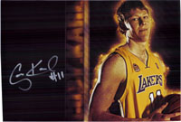 Karl, Coby (Los Angeles Lakers) Signed 8x12 Photo (Can Be Cut Down to 8x10)