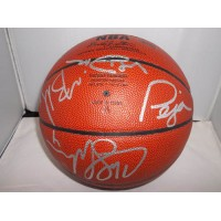 Kings, Sacramento (Chris Webber/Vlade Divac/Peja Stojakovic/Mike Bibby) Signed Spalding Indoor/Outdoor Basketball by Chris Webber, Vlade Divac, Peja Stojakovic, & Mike Bibby.