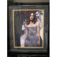 Knightley, Keira Signed 11x14 Photo Double Matted and Framed ready to be displayed on your wall.