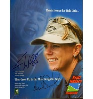 Kraft Nabisco Championship 2002 Program (Karrie Webb / Annika Sorenstam) Signed 2002 Kraft Nabisco Championship Program by Karrie Webb and Annika Sorenstam on the front cover