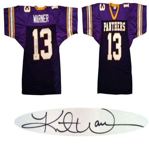 size 40 d98d8 af2c9 Kurt Warner Autographed Northern Iowa Football Jersey ...