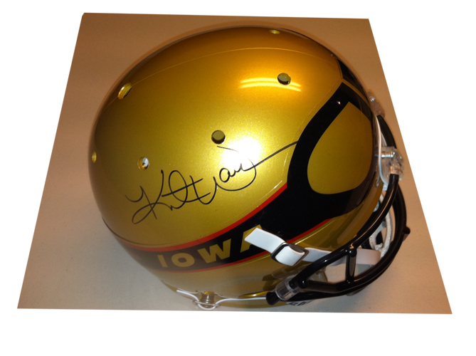 size 40 9e57e 89ce4 Kurt Warner Signed Iowa Barnstormers Helmet TriStar COA ...