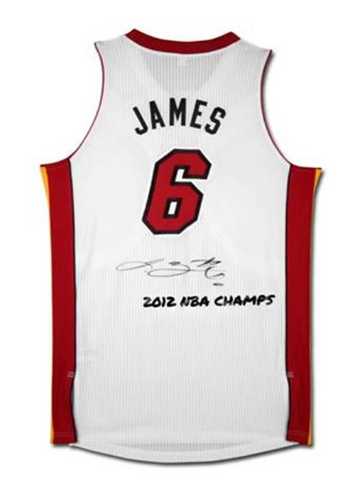 reputable site 34221 fb865 LeBron James Signed Miami Heat Jersey